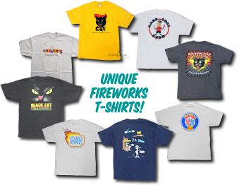 Unique fireworks shirts